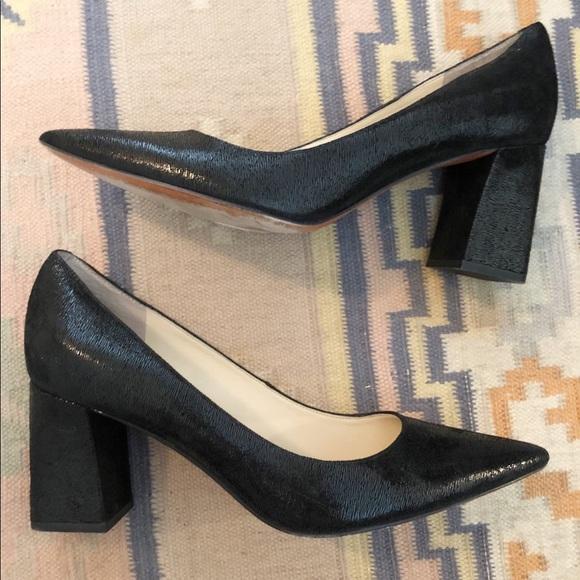 dbfa800c9e5 Marc Fisher LTD Textured Leather Zala Block Heels.  M 5c43c8c99539f780e17bba3f